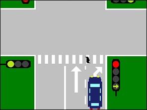Comment s'arreter en voiture au feu